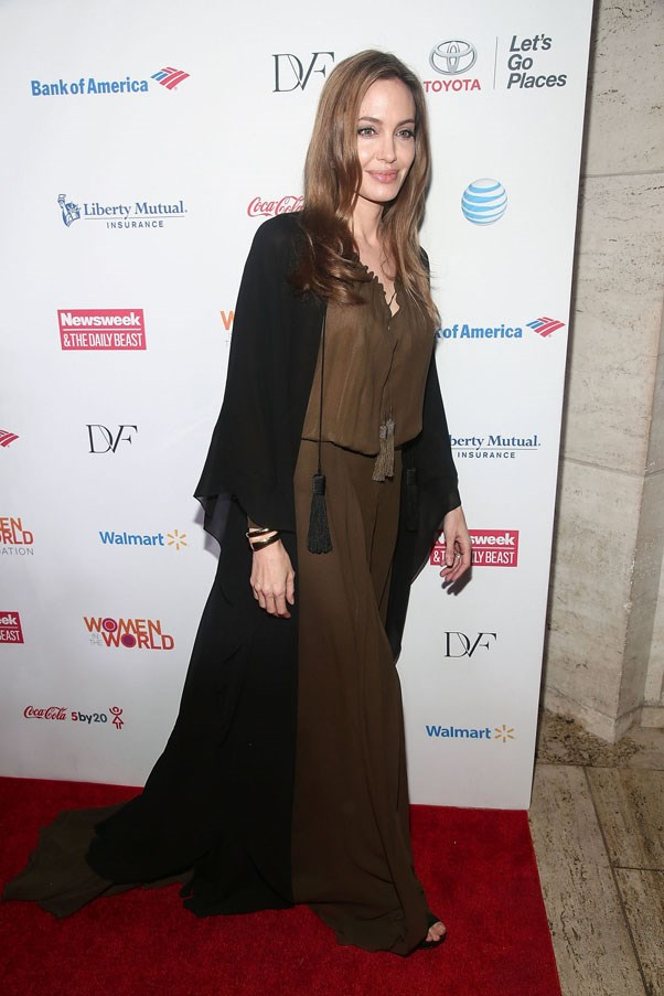 <strong>Angelina Jolie</strong><br><br> At the Women in the World summit, 2013