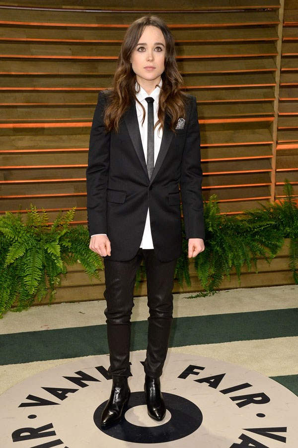 <strong>Ellen Paige</strong><br><br> At the Vanity Fair Oscars after party, 2014