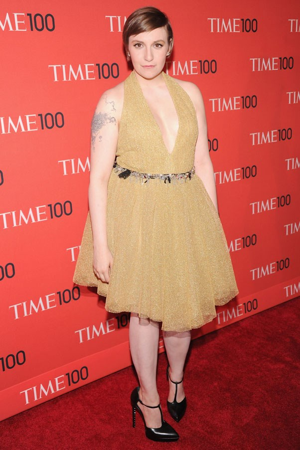 <strong>Lena Dunham</strong><br><br> At the <em>TIME</em> 100 Gala, 2013