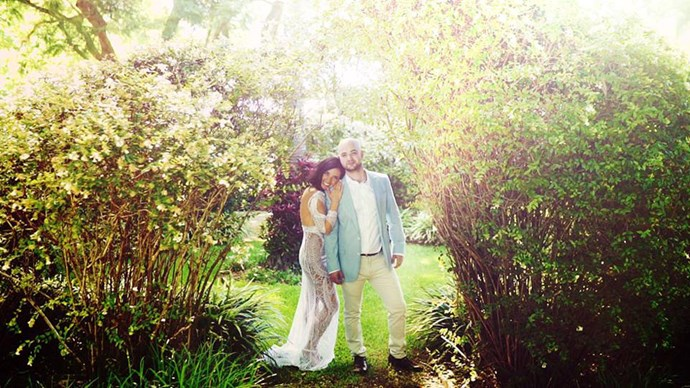<strong>On the proposal:</strong> <br><br> We were in Byron for a weekend. He had this grand plan which didn't go the way he had imagined but after a comedy of errors occurred I ended up saying yes in the pouring rain while he was on one knee in the mud after he had dug up the ring that had been buried like a hidden treasure!