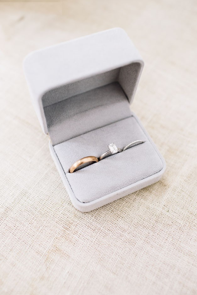 <strong>On her favourite accessories:</strong> <br><br> I kept it so simple, it was just my wedding rings! My dress was so intricate, I just want it to speak for itself.
