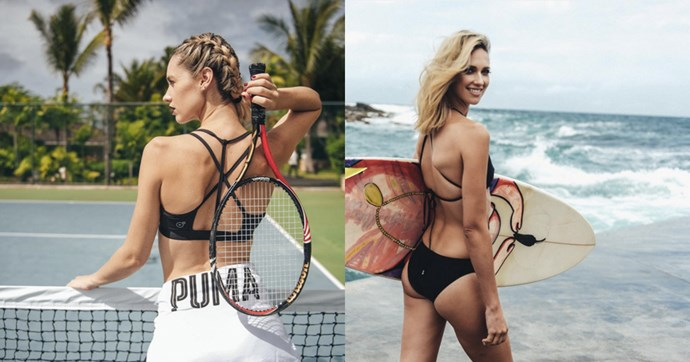 """<strong>Nikki Phillips, Puma Ambassador</strong><br><br> <strong>Food:</strong> As Nikki doesn't believe in restricting herself when it comes to food, she focuses on creating a really balanced diet. While she may be a self-confessed chocoholic, she primarily eats meats, fish, vegetables and carbs and allows herself a glass of one or two if she so desires. <br><Br> <strong>Fitness:</strong> Nikki likes to match her fitness routines to the seasons. In summer, she'll opt for beach sprints, swimming and getting outdoors, while in winter it's all about working out in the park with her two dogs. Once a week, she goes to <a href=""""https://thefitnessplayground.com.au/"""">Fitness Playground</a> for a high intensity workout, and every second Sunday she does yoga. As one of Puma's new Australian ambassadors, choosing exercise that complements her fitness goals is important to her. """"I want to be tone and maintain my weight so I do different things to shock the body."""""""