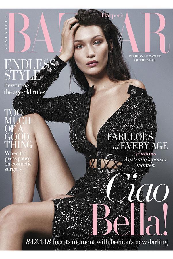 Bella Hadid Covers Harper's BAZAAR Australia August 2016 ...