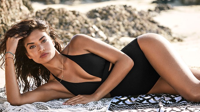 """<strong>Shanina Shaik, face of Seafolly</strong><br><br> <strong>Food:</strong> For the past three years, Shanina has eaten according to her blood type, focusing on protein and vegetable based foods. She has also recently cut dairy from her diet, learning that it is bad for her. """"I've noticed the results,"""" she says. """"I feel more energised and keep at a well-balanced weight. I keep to that and it keeps me happy as well."""" She does admit that you can indulge though, enjoying ice cream now and then. <br><Br> <strong>Fitness:</strong> Shanina tries to work out daily, even though it's sometimes impossible due to the constant travel required as a model. Generally, she exercises four times per week, enjoying yoga, pilates and 20 minutes on the treadmill. """"20 minutes of cardio is a good amount of time for anybody to see results."""" She also takes to boxing, whether hitting a punching bag or sparring one on one. """"It takes aggression out too, then you see results at work. Boxing works your whole body pretty much, especially your upper body."""""""