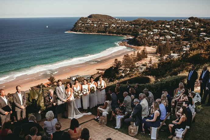 """<strong>On the location:</strong> <br><br> Both the ceremony and the reception took place at <a href=""""http://www.jonahs.com.au/"""">Jonah's Whale Beach</a>."""