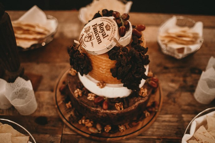 """<strong>On choosing a non-cake:</strong> <br><br> Neither of us are big cake lovers, so we chose a selection of our favourite cheeses. My sister helped us put together an amazing cheeseboard with crackers and grapes. We also had big jars of delicious cookies from <a href=""""http://bondibikkies.com/"""">Bondi Bikkies</a>, which were gone in the blink of an eye!"""