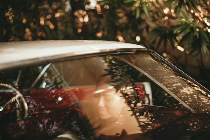 <strong>On their arrival:</strong> <br><br> I was already staying at Jonah's so it was just a short, nervous walk down to the aisle. Our friend offered to drive us in his 1960's classic muscle car, which was a great addition to the day.