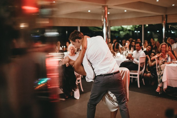 <strong>On their first dance:</strong> <br><br> We danced to 'At Last' by Etta James.