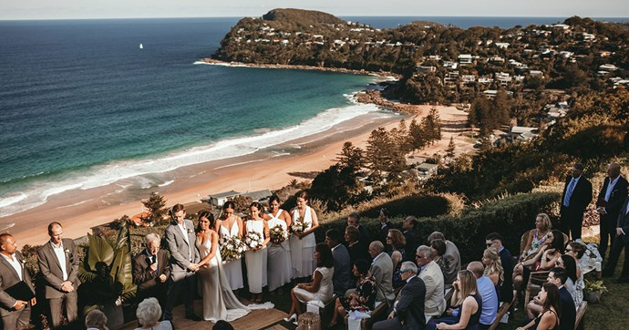 Inside the ocean-side, classically chic nuptials of Jessica and Marc.