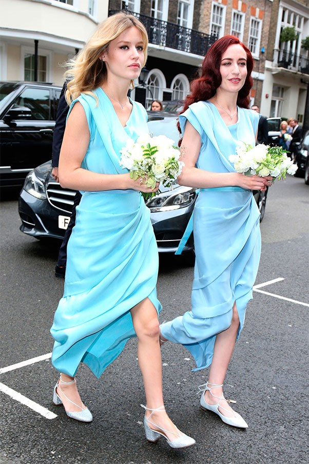<strong>Georgia May Jagger</strong><br><br> Georgia May Jagger and her sister Jade were bridesmaids when her Mum Jerry Hall married media mogul Rupert Murdoch earlier this year.