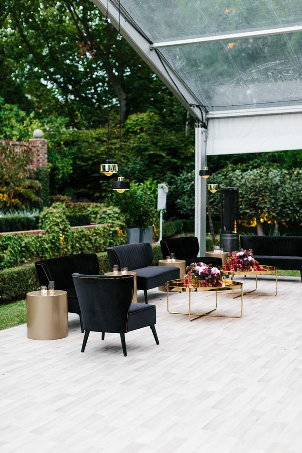 <strong>On their vision for the day:</strong> <br><br> A refined, elegant and modern garden wedding with plenty of room for guests to lounge around, dance and mingle! It was held at our family's estate in Toorak, so a perfect setting for an outdoor garden wedding.