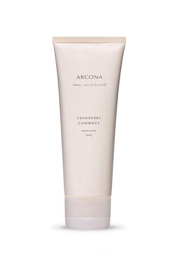 """<strong>Exfoliation: </strong> <br><br>As we age, skin cells don't turn over as rapidly leading to a build-up of dead skin cells and dull, lacklustre tone. Exfoliating two or three times a week will not only give you brighter skin, but also help with effective product penetration. Physical exfoliants manually slough off the dead cells, whereas chemical exfoliants use AHAs and BHAs to dissolve dead skin cells, promoting cell turnover. <em><br><br>Arcona Cranberry Gommage, $66, <a href=""""http://www.sephora.com.au/products/arcona-cranberry-gommage/v/default-b1f3d60c-5e20-4fd0-845f-16666f555a6b"""">Sephora</a></em>"""