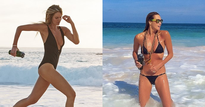"""<strong>Elle Macpherson</strong><br><br> <strong>Food:</strong> Macpherson adopts an alkaline diet, steering clear of red meat, wheat, dairy, sugar, and processed food.Her nutritionist, Simone Laubscher, MD, told <a href=""""http://www.elle.com/beauty/health-fitness/news/a38748/elle-macpherson-nutritionist-interview/""""><em>ELLE</em></a> that she recommends an 80/20 balance, where Macpherson eats clean for 80 per cent of the week, swapping white rice for quinoa or steak for fish, and then is free to eat whatever she likes for 20 per cent of the week (or one and a half days). Her daily diet includes an omelette for breakfast, salmon for lunch, sea bass and Greek salad for dinner and dates for a snack. <br><br> <strong>Fitness:</strong> As Macpherson is not a huge lover of the gym, she tends to exercise outside. With a penchant for changing it up regularly, she usually goes for a combination of different activities and sport, including massage, yoga, spin, run, beach boot camp, paddle board, hike, ski and swim. As she told <em><a href=""""http://thechalkboardmag.com/elle-macpherson-wellness"""">The Chalkboard magazine</a></em>, she likes to do something different every day."""