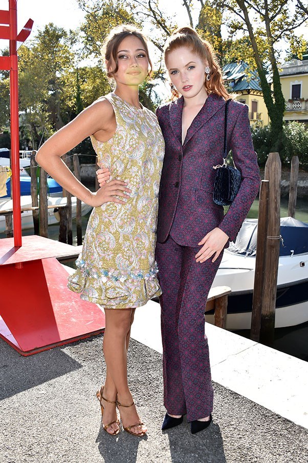 Ella Purnell and Ellie Bamber at a photo call for <em>Women's Tales</em>
