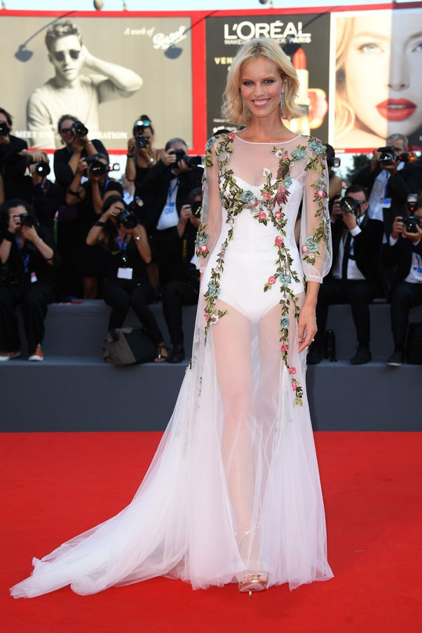 Eva Herzigova at the premiere of <em>Nocturnal Animals</em>.