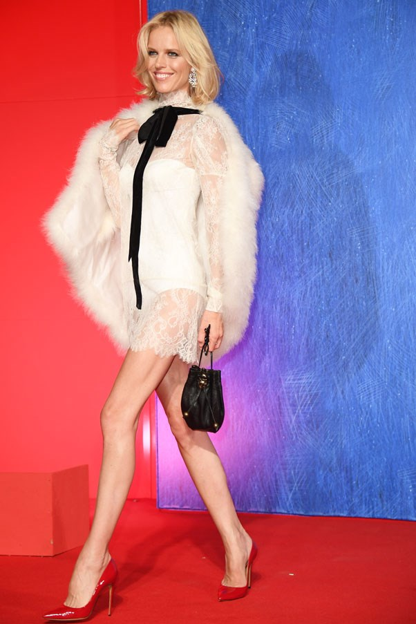 Eva Herzigova attends the premiere of <em>Franca: Chaos And Creation</em>.