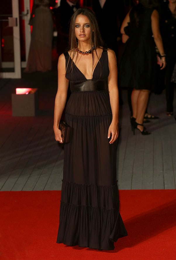 Matilde Gioli attends the premiere of <em>Franca: Chaos And Creation</em>.
