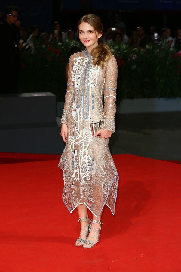 Emilia Jones attends the premiere of <em>Brimstone</em>.