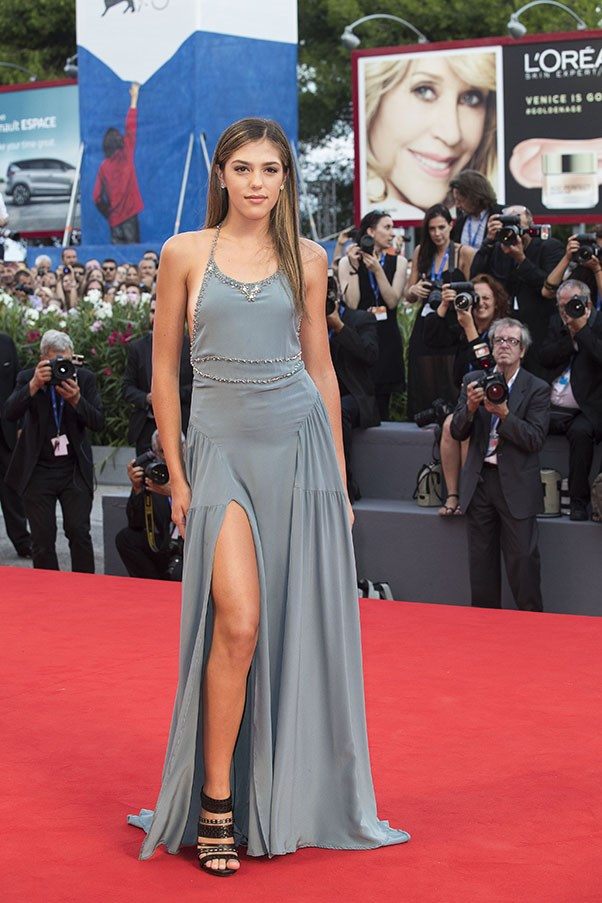 Sistine Stallone at the premiere of <em>Hacksaw Ridge</em>.