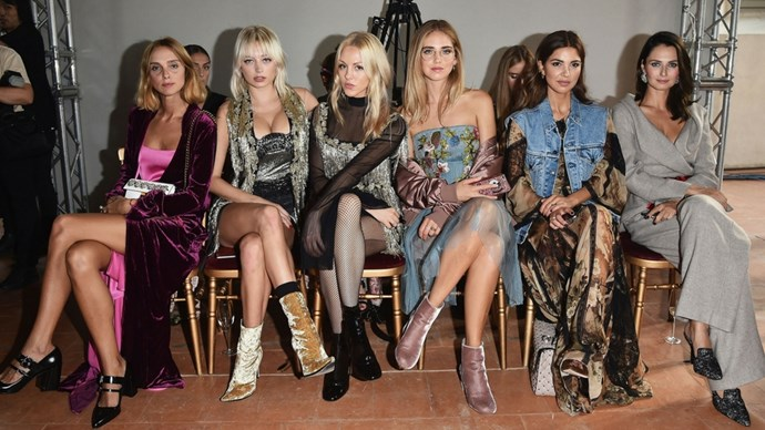 milan fashion week front row style