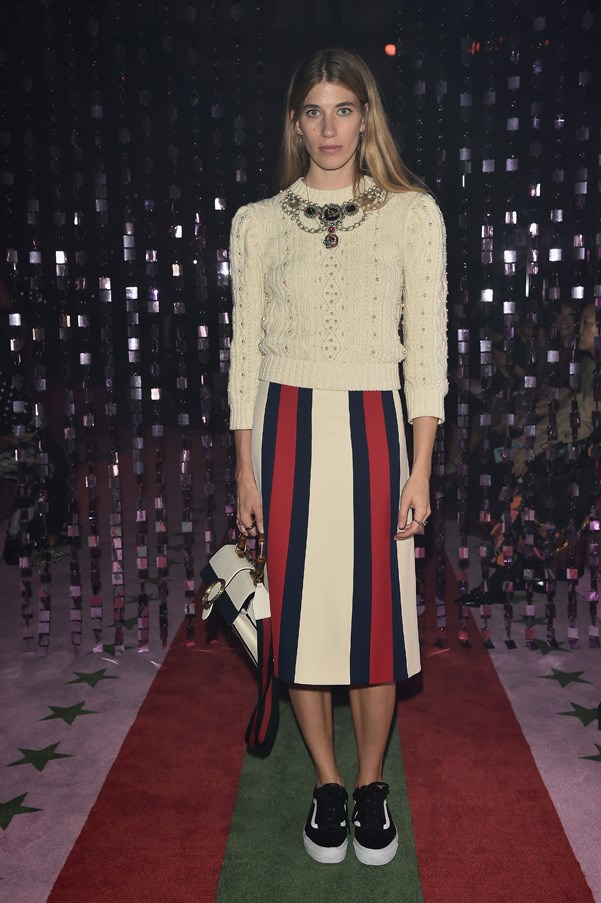 Veronika Heilbrunner at Gucci.
