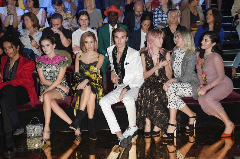 Front Row Milan Fashion Week