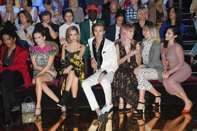 Luka Sabbat, Zoey Deutch, Sarah Snyder, Lucky Blue Smith, Pyper Smith, Daisie Smith and Starlie Smith.