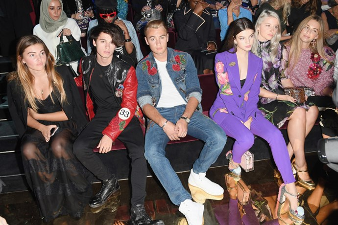 Thylane Blondeau, Dylan Jagger Lee, Brandon Thomas Lee, Sonia Ben Ammar and Talita Von Furstenberg.
