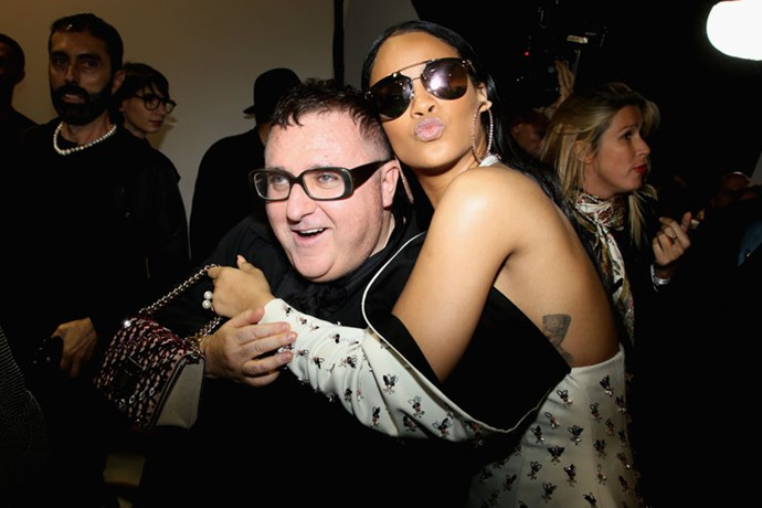 Albert Elbaz and Rihanna