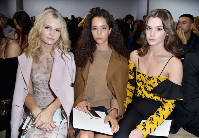 Lottie Moss, Iman Perez and Sai Bennett