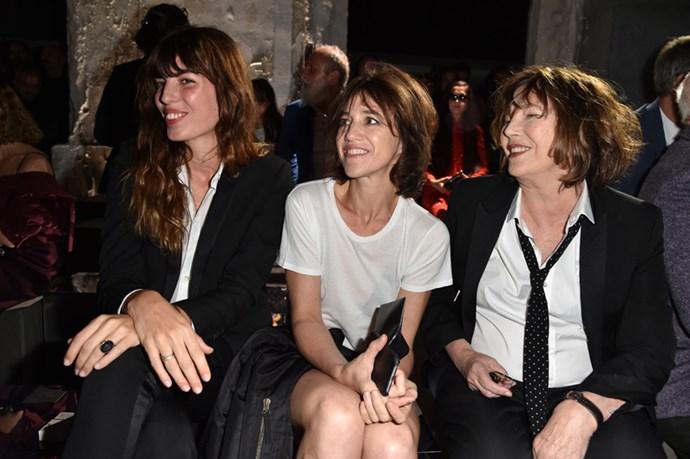 Lou Doillon, Charlotte Gainsbourg and Jane Birkin at Saint Laurent.