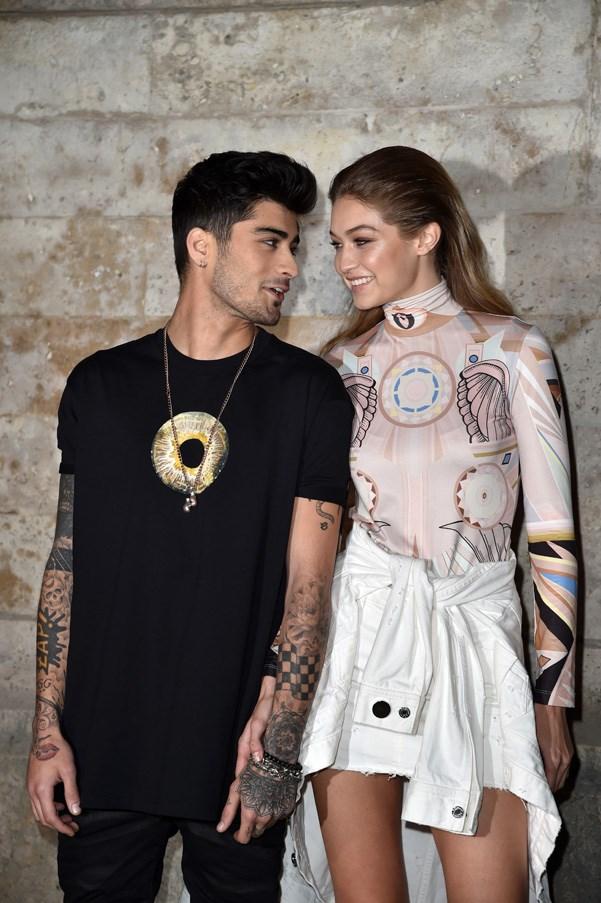 Gigi Hadid once again brings her musician boyfriend Zayn Malik to Givenchy.