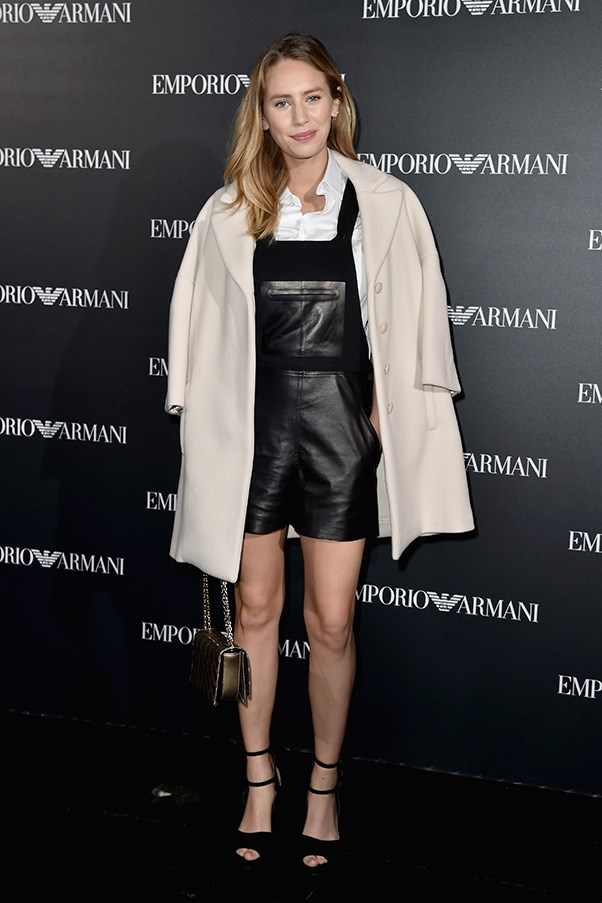 Dylan Frances Penn at Armani