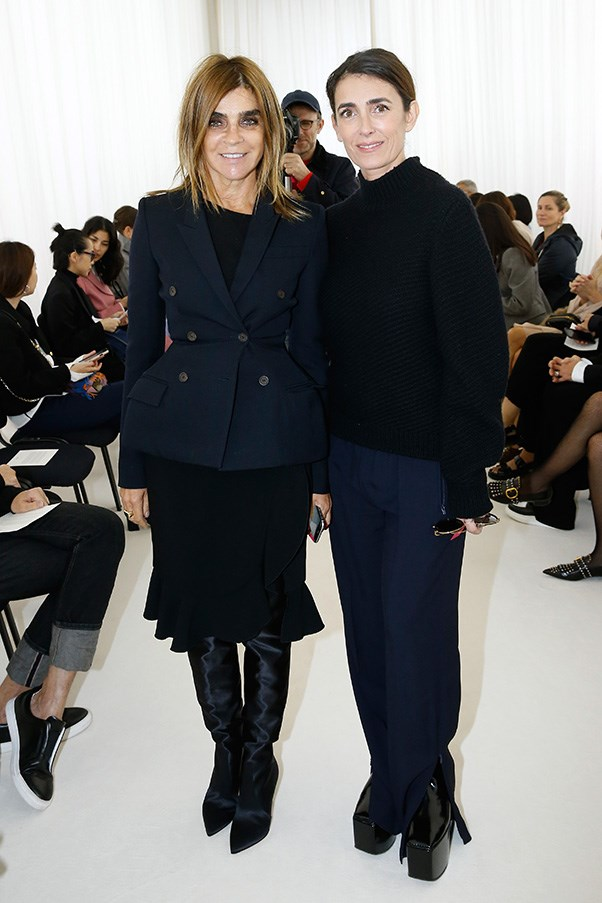 Carine Roitfeld and Mademoiselle Agnès at Balenciaga