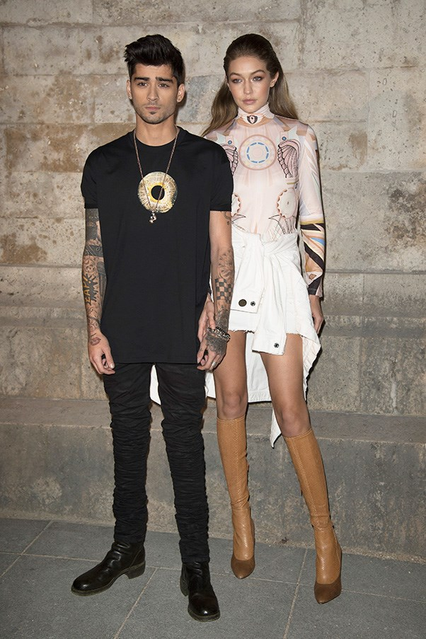 Zayn Malik and Gigi Hadid at Givenchy