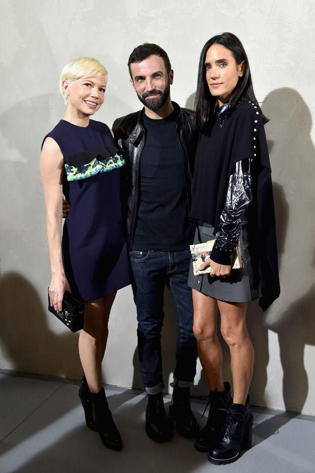 Michelle Williams, Nicolas Ghesquiere and Jennifer Connelly