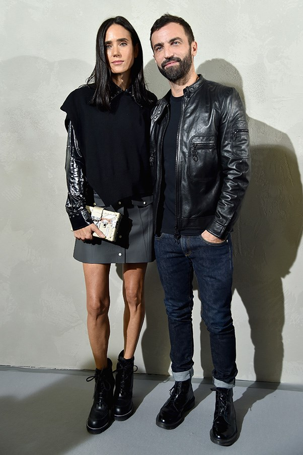 Jennifer Connelly and Nicolas Ghesquiere at Louis Vuitton.