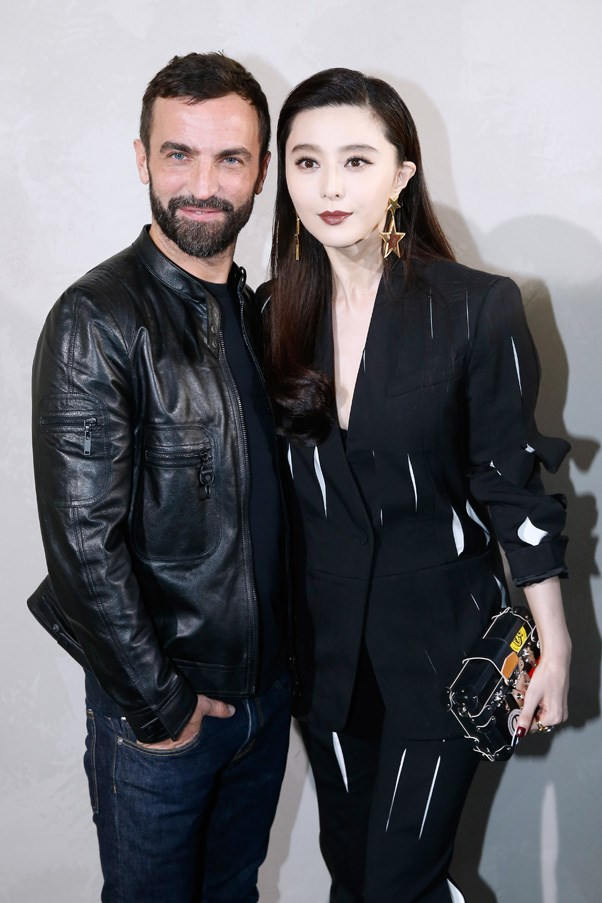 Nicolas Ghesquiere and Fan Bingbing at Louis Vuitton.