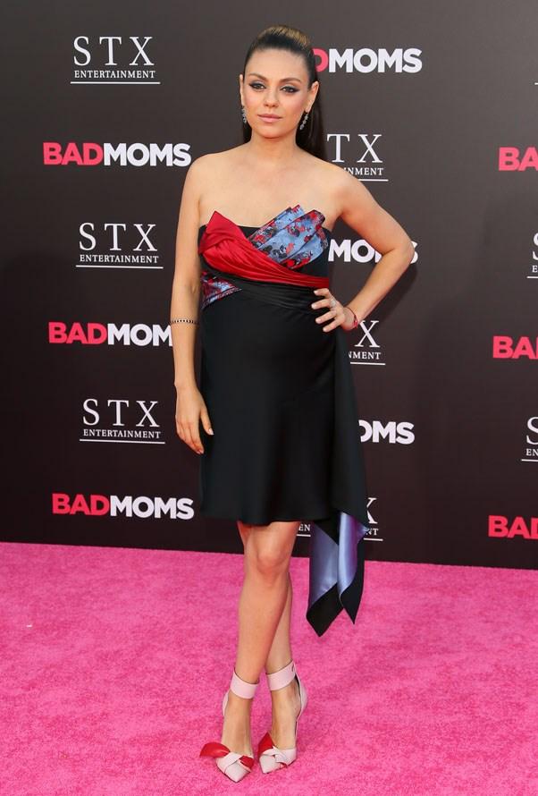 Mila Kunis at the premiere of <em>Bad Moms. </em>