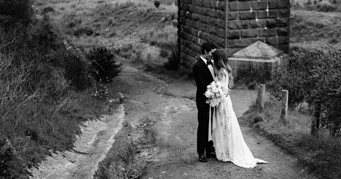 Inside the darkly romantic nuptials of Amara and Cal.