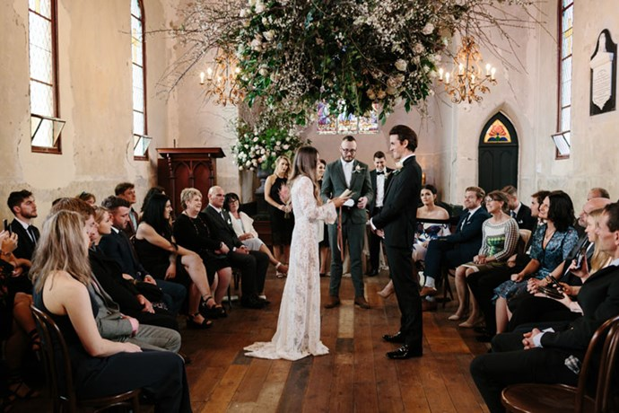 <strong>On their vision for the day</strong> <br><br> We had planned on eloping, but then on a holiday in April - much to our families delight - we decided that we would have a wedding. We still wanted the intimacy of an elopement however, so we needed something that felt removed, like we were escaping. When we stumbled upon Churchill, the photos were dark and moody with a Wuthering Heights kind of ephemeral drama. We wanted to capture this theatricality on the day, to create something that was ethereal, but slightly gothic.