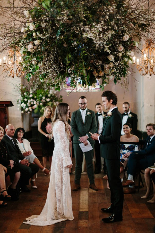 <strong>On their favourite element of the wedding:</strong> <br><br> When we discussed what marriage meant to us, something we kept coming back to was equality. We found ourselves really struggling with being okay with us being able to make this commitment, but our two best friends who are gay, couldn't. So we really resisted tradition as much as possible and one of the ways we did that was by asking our gay best friend to marry us. He isn't actually an official celebrant, so we still had an officiator do the legalities, but this reappropriation of the tradition was so special to us and really helped define what we see marriage as being.