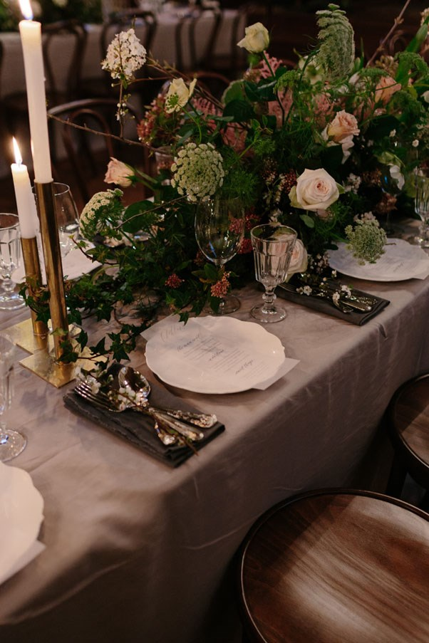 """<strong>On the wedding favours:</strong> <br><br> We had petite, raw oak cheeseboards made that were used as dessert boards. When guests finished their desserts they would have seen a little placard on the board that read, """"Take me home, baby. I'm all yours."""""""