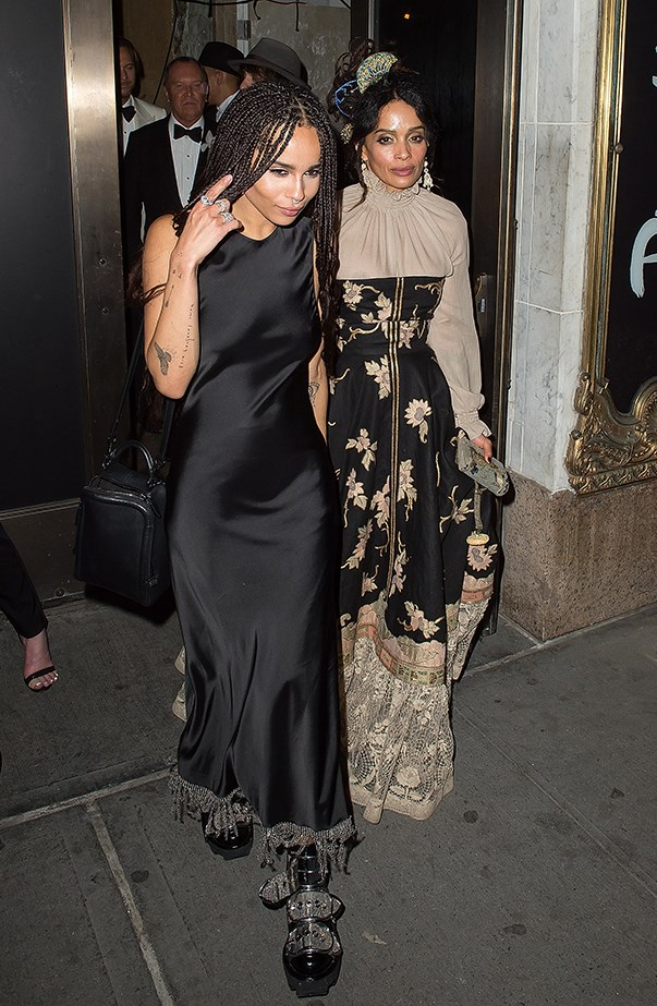 <p><strong>Lisa Bonet and Zoë Kravitz</strong> <p>They don't come much cooler than Lisa and Zoë, who both make bohemian-inspired threads appropriate for any red carpet occasion.