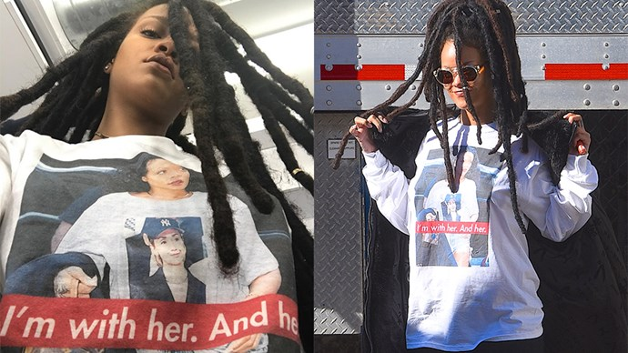 Move over band tees, because the latest trend in celebrity style is a lot more political. Here, we're tracking the A-list's love of Hillary Clinton, in t-shirt form.