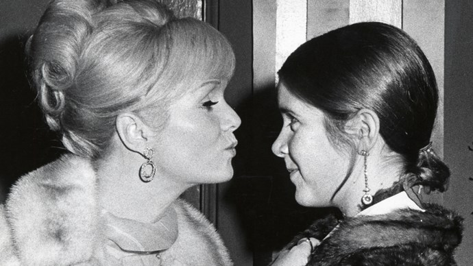 Debbie Reynolds and Carrie Fisher 1972