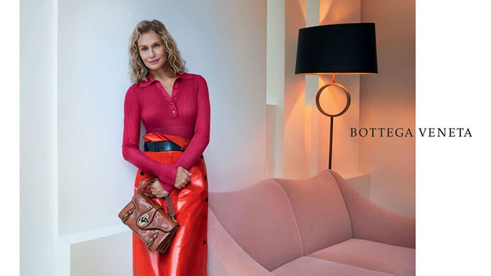 <strong>Bottega Veneta</strong> <br></br> Modelled by Lauren Hutton, shot by Todd Hido.