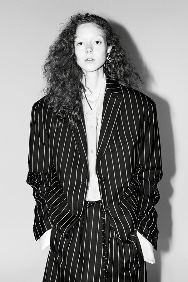 <strong>Jil Sander</strong><br><br> Modelled by Natalie Westling, shot by Willy Venderperre.