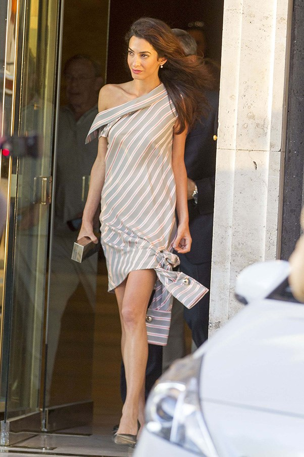 Amal Clooney out and about in New York city.<br><br> Image: Splash
