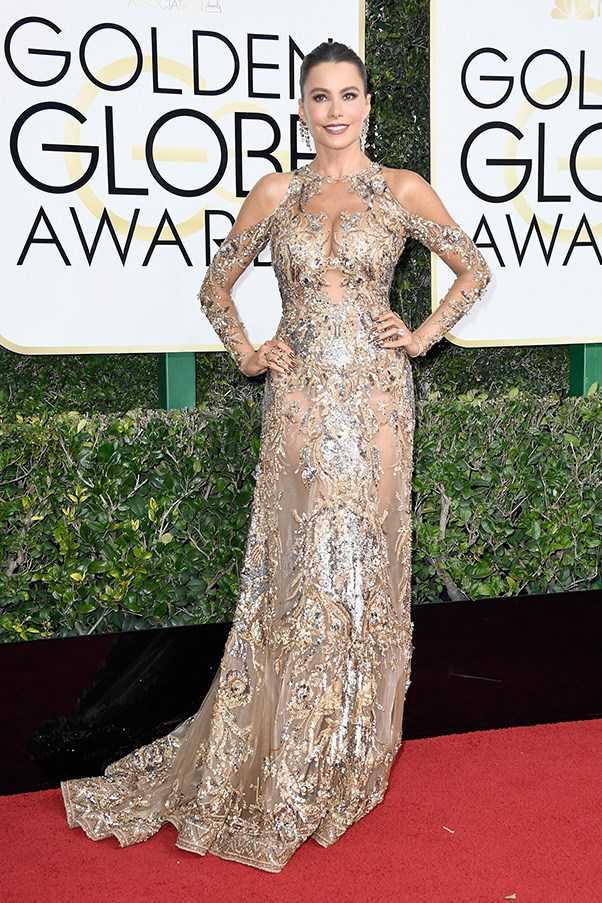 """<strong>Sofia Vergara in Zuhair Murad</strong><br><br> """"I get that Sofia Vergara isn't exactly the Queen of Restraint, but this is embellishment gone very, very wrong."""" - Grace O'Neill, acting digital fashion editor"""